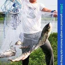 Casting net with a ring Ø4m bar 12mm (fishing line)