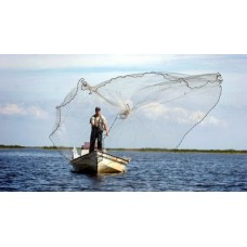 Fishing casting net for boat and shore fishing